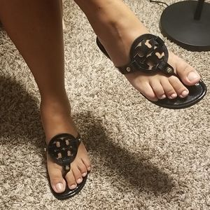 Tory Burch Miller patent sandals. Size 7.5